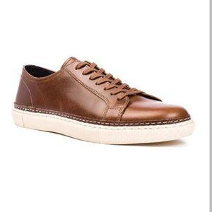 Crevo palomino brown leather sneaker Sz 11